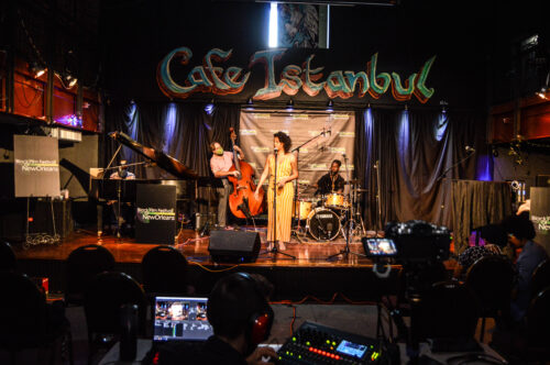 Photo from the 2021 Black Film Festival of New Orleans in-person event at Cafe Istanbul